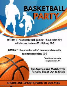 Basketball Party Shoreline Sports Park