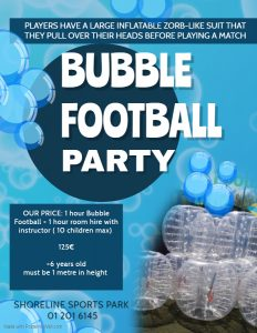 Bubble Football Party Shoreline Sports Park